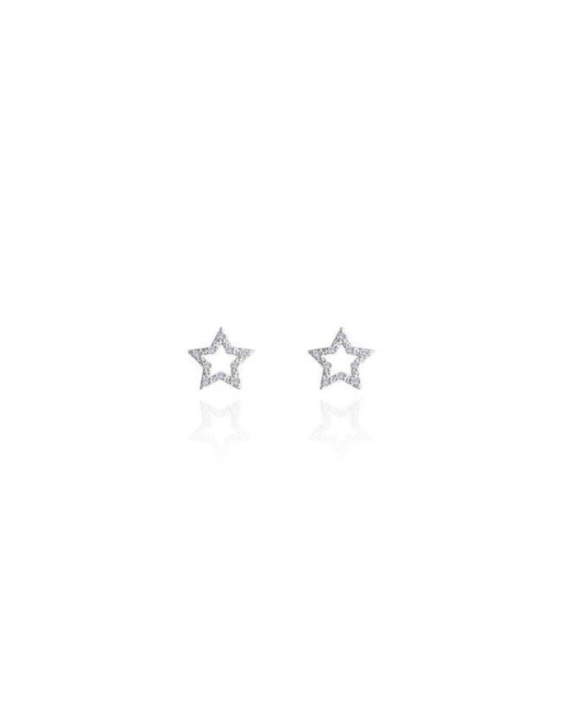 KATIE LOXTON KLJ3175 SENTIMENT SET - DARLING DAUGHTER - STAR -SILVER- NECKLACE 46CM +5CMEXTENDER / STUD EARRING