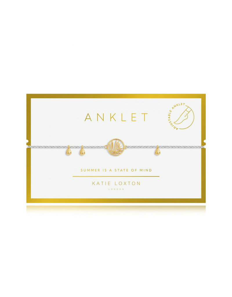 "KATIE LOXTON *KLJ3555 ANKLET | GOLD PALM | 10 1/5"" TOTAL LENGTH"
