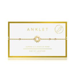 "KATIE LOXTON *KLJ3557 ANKLET | GOLD SUN | 10 1/5"" TOTAL LENGTH"