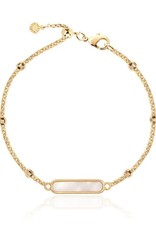 """KATIE LOXTON *KLJ3559 ANKLET   GOLD SHELL    10 1/5"""" TOTAL LENGTH"""