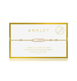 "KATIE LOXTON *KLJ3559 ANKLET | GOLD SHELL| | 10 1/5"" TOTAL LENGTH"