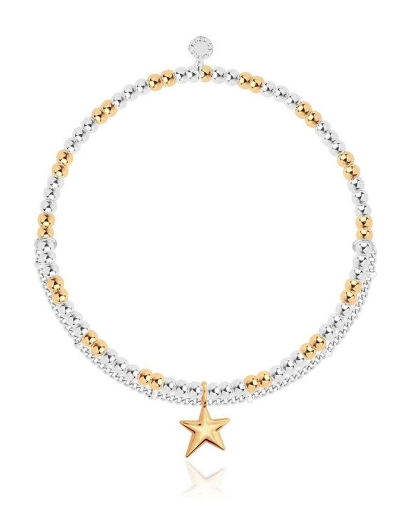 "KATIE LOXTON *KLJ3573 AMULET | GOLD STAR CHAIN BRACELET | 6 4/5"" STRETCH"
