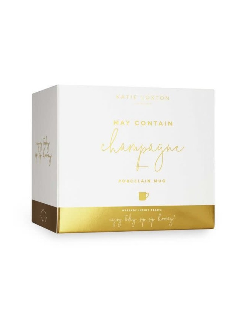 KATIE LOXTON KLCW004 MUG - MAY CONTAIN CHAMPAGNE!