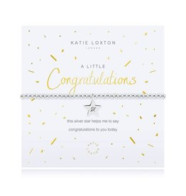KATIE LOXTON KLJ2699 A LITTLE - CONGRATULATIONS - SILVER- 17.5CM STRETCH