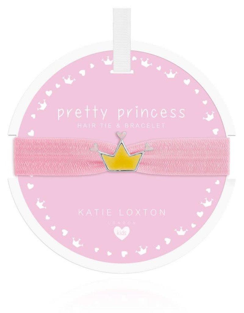 KATIE LOXTON *KLJC458 Hair Tie / Bracelet - Pretty Princess - Crown - Pale Pink