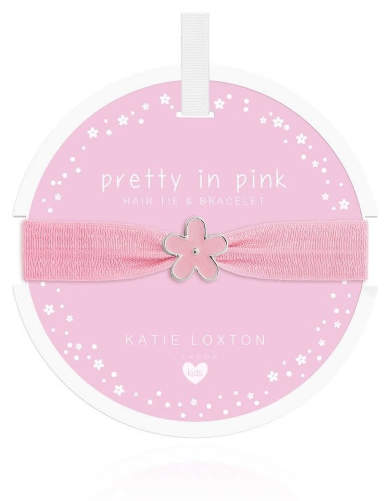 KATIE LOXTON KLJC464 Hair Tie / Bracelet - Pretty in Pink - Flower - Pale Pink