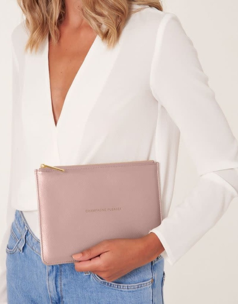 KATIE LOXTON KLB742 PERFECT POUCH | CHAMPAGNE PLEASE | PINK | 16 X 24 CM
