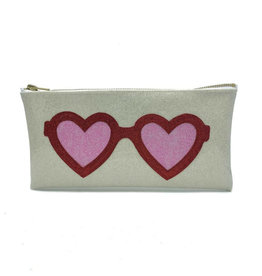 Heart Glasses Clutch