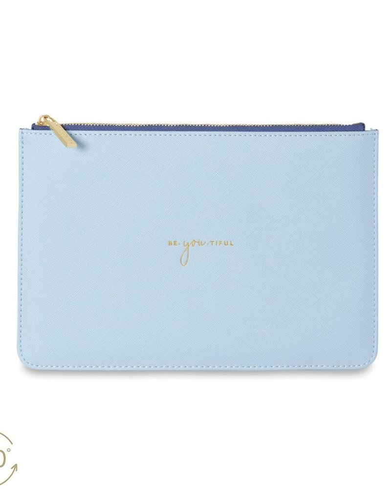 KATIE LOXTON *KLB749 COLOUR POP PERFECT POUCH | BE YOU TIFUL | SKY BLUE | 16 X 24 CM