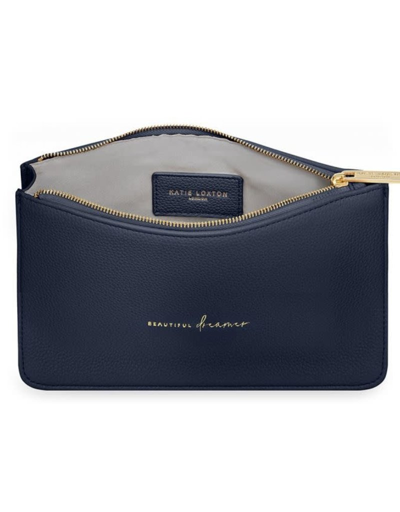 KATIE LOXTON *KLB778 STYLISH STRUCTURED POUCH | BEAUTIFUL DREAMER | NAVY | 16 X 24 X 5 CM