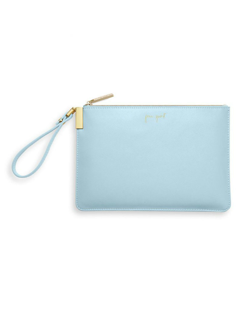 KATIE LOXTON *KLB783 SECRET MESSAGE POUCH | FREE SPIRIT THE WORLD IS YOUR OYSTER | BLUE | 16 X 24 CM