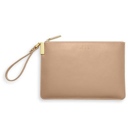 KATIE LOXTON *KLB787 SECRET MESSAGE POUCH | OOH LA LA GIRLS JUST WANNA HAVE FUN | TAUPE | 16 X 24 CM