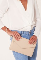 KATIE LOXTON *KLB797 ESME ENVELOPE CLUTCH BAG | BE YOUR OWN KIND OF BEAUTIFUL NUDE PINK  | 16 X 26 CM