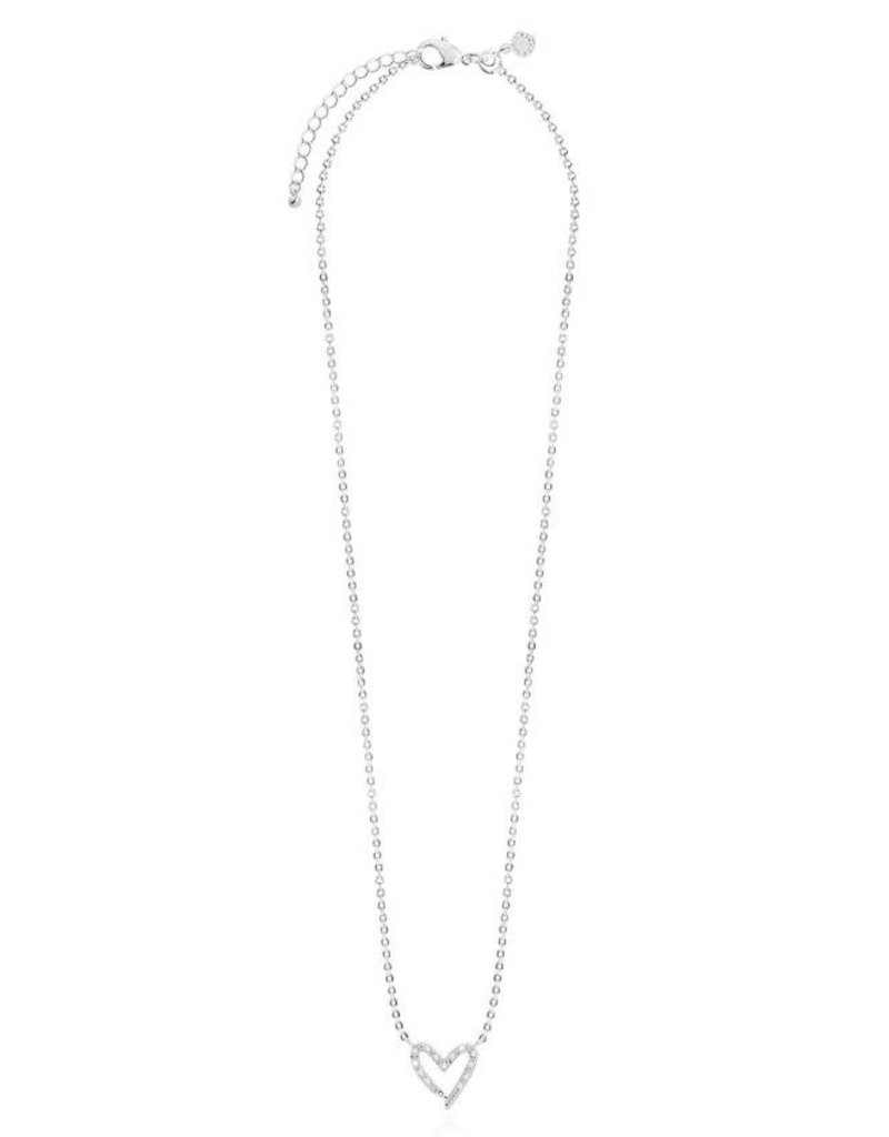 "KATIE LOXTON *KLJ3510 SENTIMENT SET | LOVE LOVE LOVE | SILVER | EARRINGS AND NECKLACE | 18 1/9"" + 2"" EXTENDER"