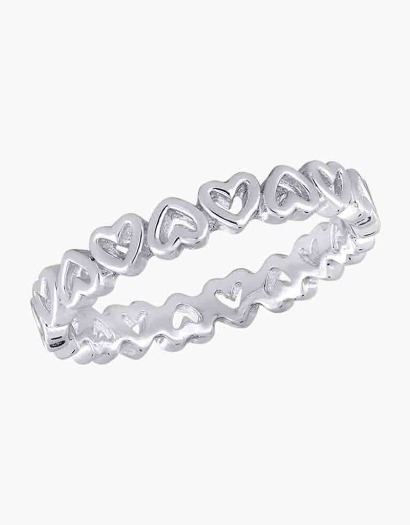 Heart Band Stack Ring