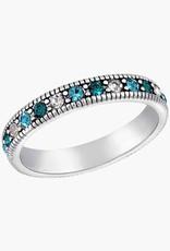 Multi Blue Eternity Stack Ring