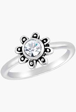 Lg. CZ Flower Stack Ring