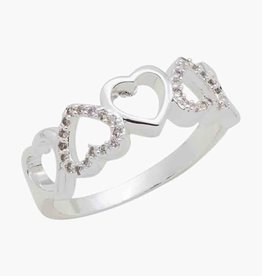 Heart CZ Stack Ring