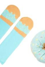 Aqua Sprinkles Doughnut socks
