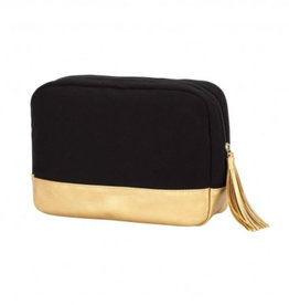 VIV&LOU WM BLACK CABANA COSMETIC BAG