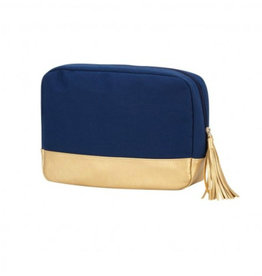 VIV&LOU WM NAVY CABANA COSMETIC BAG