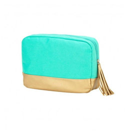VIV&LOU WM MINT CABANA COSMETIC BAG