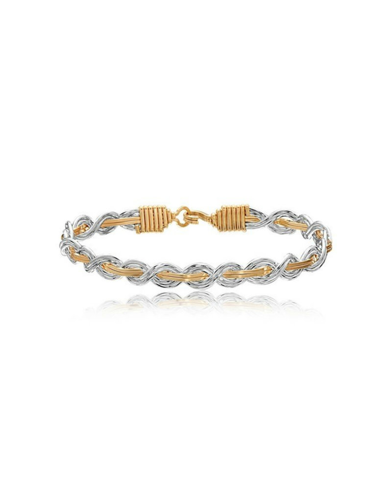 RONALDO LET IT SHINE BRACELET 14K GOLD ARTIST WIRE & SILVER