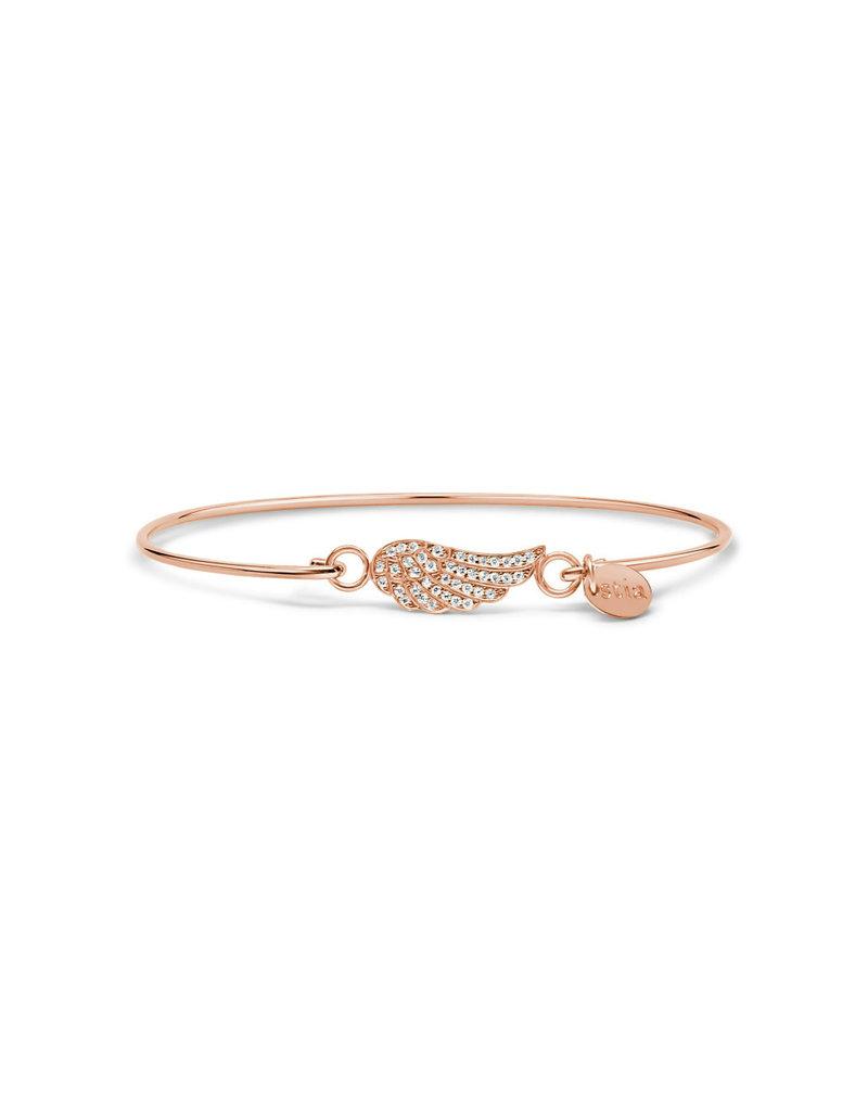 STIA Rose Gold Bracelet Pavé Wing