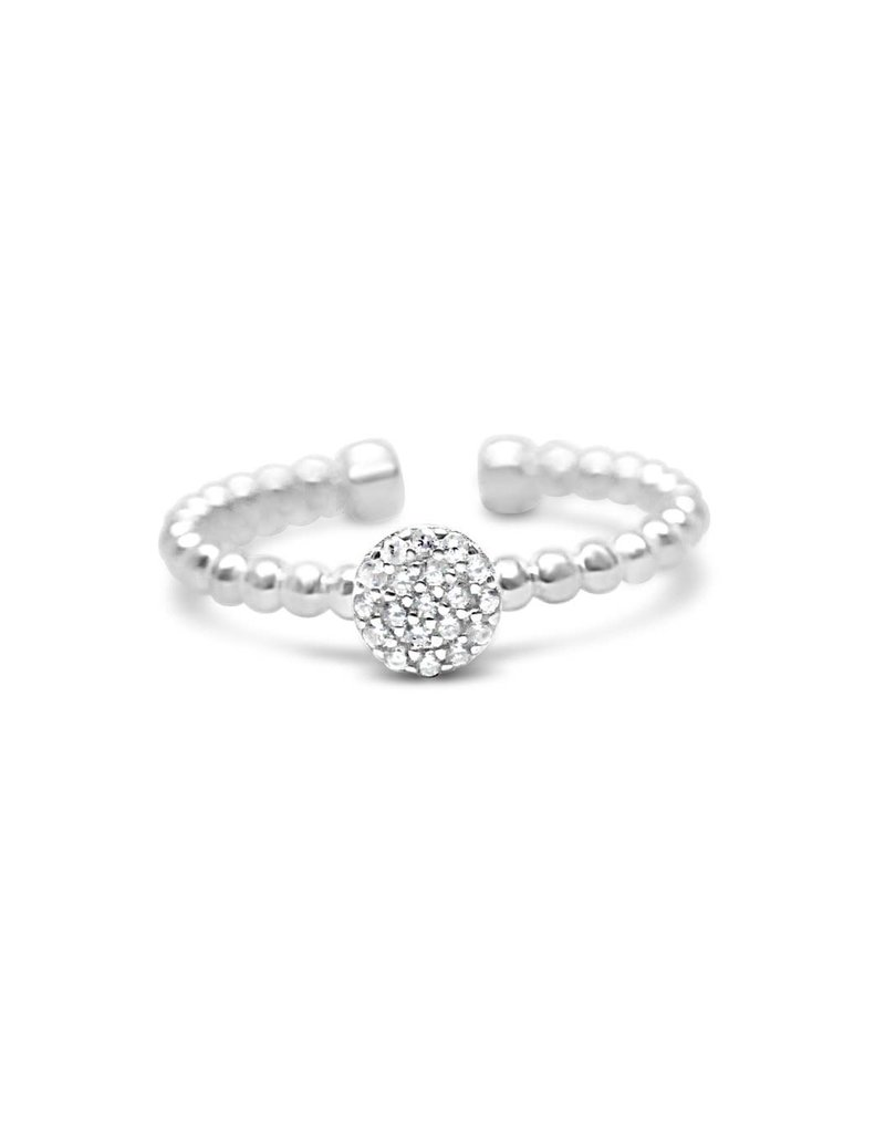 STIA IT FITS Droplet Wire Ring - Pave Disk