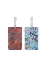 TRAVELON 13450 Set of 2 Luggage Tags - Passport Stamps