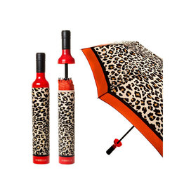 VINRELLA WINE BOTTLE UMBRELLA LEOPARD