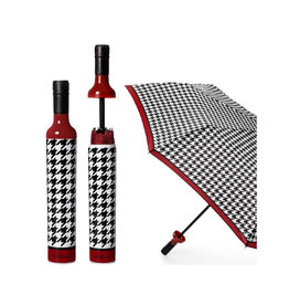VINRELLA WINE BOTTLE UMBRELLA HAPPENING HOUNDSTOOTH