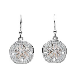 SHANORE Sand Dollar Silver & Swarovski® Crystals Earrings