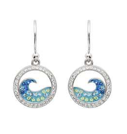 SHANORE Blue Wave Drop Earrings With Aqua Swarovski® Crystals