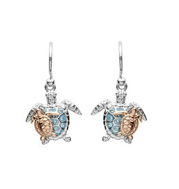 SHANORE Mother & Baby Turtle Drop Earrings With Swarovski® Crystals