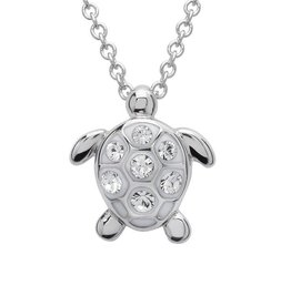 SHANORE Turtle Pendant With Clear Swarovski® Crystals – Small Size