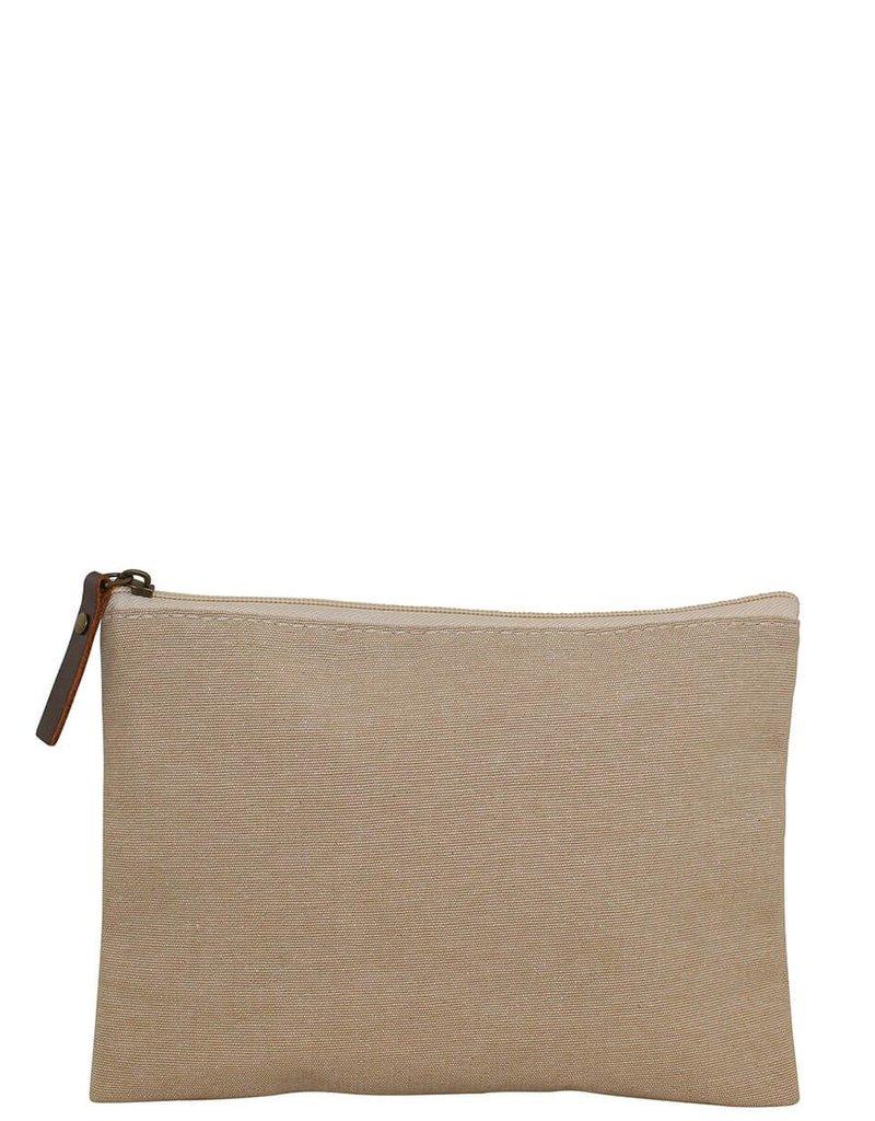 Monogrammed Jute Cosmetic Bag WM