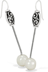 BRIGHTON JA656A Mediterranean Pearl Long French Wire Earrings