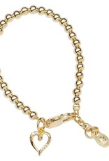 CHERISHED MOMENTS Aria - 14K Gold Plated Bracelet with Heart Charm SMALL