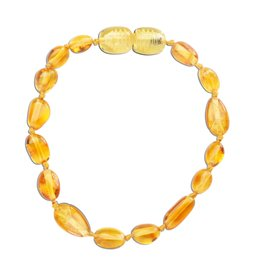 CHERISHED MOMENTS ATBP-LEMON Amber Teething Bracelet - Lemon Polished (ATBP- Lemon)