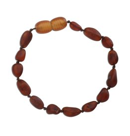 CHERISHED MOMENTS ATBU-DARK Amber Teething Bracelet - Dark Cognac Unpolished Raw (ATBU-Dark Cognac)