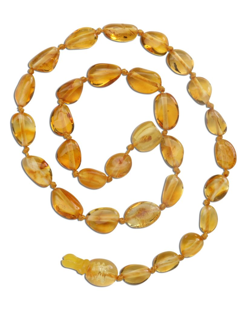 CHERISHED MOMENTS ATNP-LEMON Amber Teething Necklace - Lemon Polished (ATNP-Lemon)