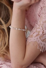CHERISHED MOMENTS Hope - Sterling Silver Pearl and Crystal Bracelet Medium