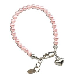 CHERISHED MOMENTS Serenity 2 (Pink) - Sterling Silver Pink Pearl Bracelet Medium