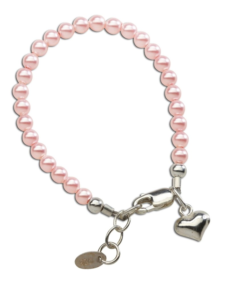 CHERISHED MOMENTS Serenity 2 (Pink) - Sterling Silver Pink Pearl Bracelet Medium