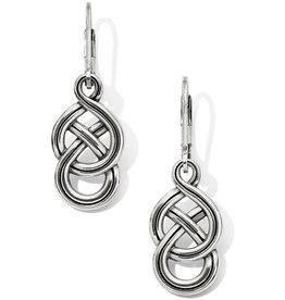 BRIGHTON JA6230 Interlok Braid Petite Leverback Earrings