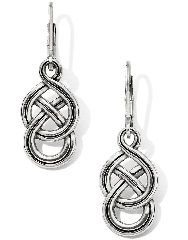 BRIGHTON JA6230 Interlok Braid Petite Leverback Earrings