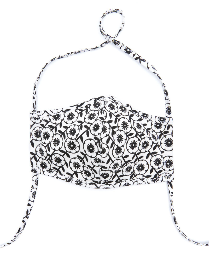 BRIGHTON D31908 Leopard Floral Face Mask (2 pack)
