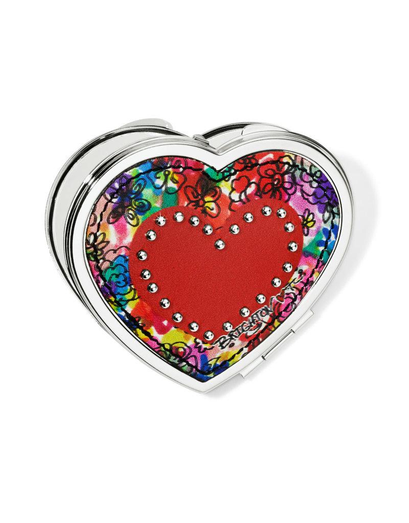 BRIGHTON E5367M Love Bouquet Heart Compact Mirror