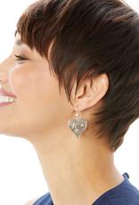 BRIGHTON JA6611 Baroness Fiori Heart French Wire Earrings